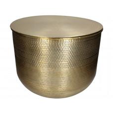 Lux - bijzettafel- goud - metaal -37x37x23