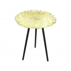 Lux - bijzettafel- goud - metaal - 41x41x50cm