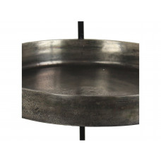 Lux - bijzettafeltje - grijs - aluminium - 40x40x94