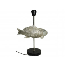 Lux - tafellamp- polyresin - zilver -29x23x55