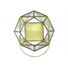 Lux - windlicht- goud - metaal -21x21x25