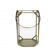 Lux - windlicht- goud - metaal -15x15x25