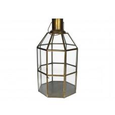 Lux - kandelaar- brons - metaal - 23x23x39