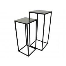 Lux - bijzettafel - aluminum - 30x30x70 - set van 2