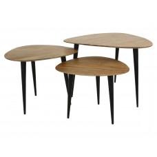 Lux - bijzettafel - hout - 65x65x45 - set van 3