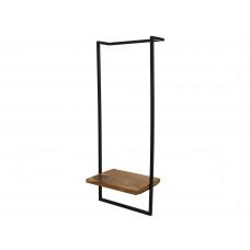 Lux - wandrek- zwart - metaal/hout
