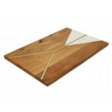 Lux - snijplank - acaciahout / marmer - 35.5x23x1.5