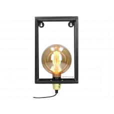 Lux - wandlamp- zwart - metaal -18x10x34