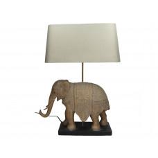 Lux - taffellamp olifant- polyresin -taupe -47.5x18x62cm