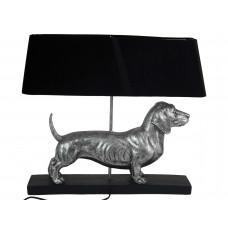 Lux - tafellamp teckel- zilver - polyresin -60x14,5x51cm