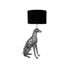 Lux - tafellamp greyhound zilver - polyresin -42x30x80cm