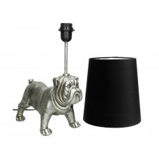 Lux - tafellamp bull dog- zilver - polyresin -40x23x54cm