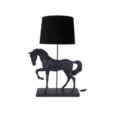 Lux - tafellamp paard- zwart - polyresin -56x35.5x81