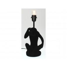 Lux - tafellamp aap- zwart- polyresin -16.5x14x35