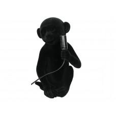 Lux - lampenvoet aap- zwart - polyresin -20x20x33