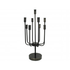Lux - kandelaar- zwart - metaal -28x28x60.5