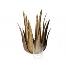 Lux - decoratie - kandelaar - goud- metaal -25x25x29