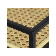 Lux - tafel - metaal/ geweven - 60x38x61.5