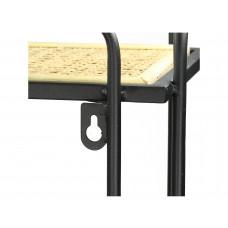 Lux - wandrek - metaal/geweven - 45x25x70