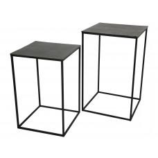 Lux - bijzettafel - vierkant - aluminium -45x45x70 - set van 2
