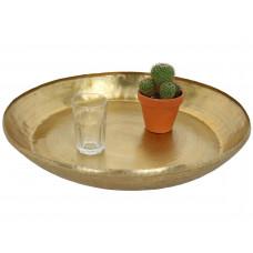 Lux - schaal- goud - metaal -57x57x8