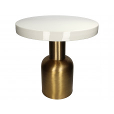Lux - bijzettafel- goud/ivoor - metaal -51x51x50.5